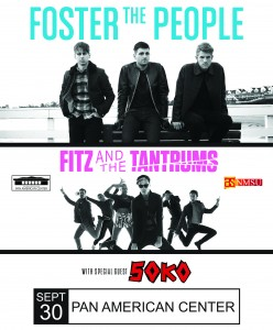 Foster the People, Fitz and the Tantrums, and SoKo